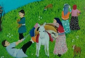 درخشش عضو کانون لرستان در مسابقه نقاشی «سرزمین مادری» بلاروس