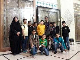 اعضای مرکز 10 در موزهی حرم