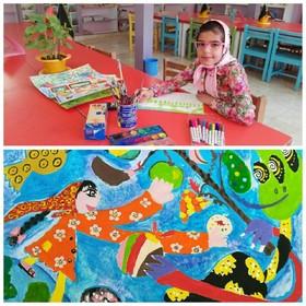عضو کانون فارس، نفر اول مسابقه ی نقاشی کشور شد