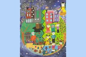 نقاشی برگزیده سومین مسابقه نقاشی کودکان بیمار
