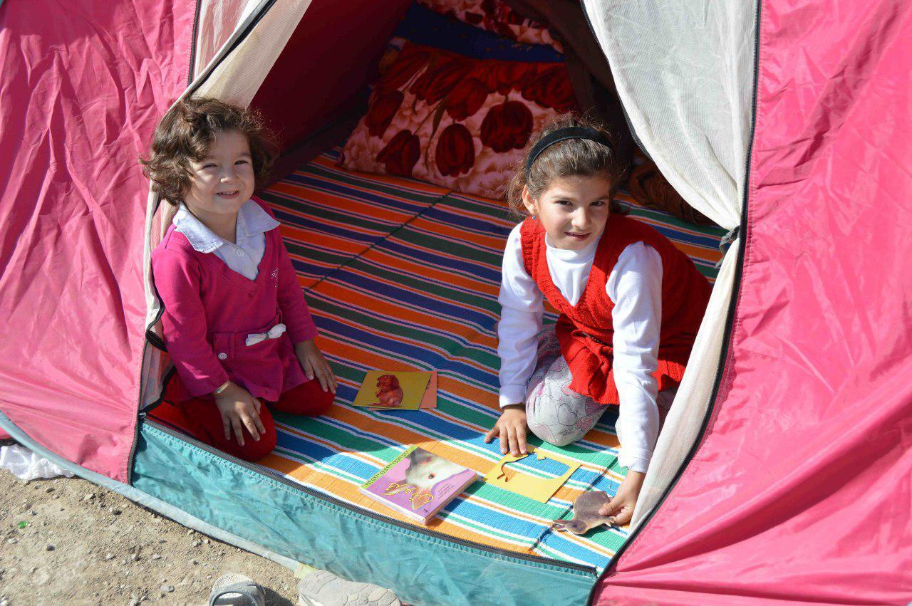 امدادرسانی فرهنگی کانون در مناطق زلزلهزده استان کرمانشاه
