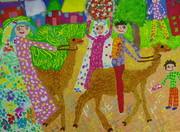 اثر نقاشی علی صامتی عضو موفق کانون قاین