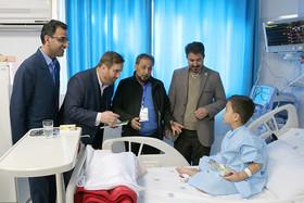 دیدار با کودکان در بیمارستان امیرالمؤمنین سمنان