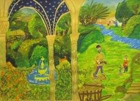 هنر دست نقاش اعضای کانون گلستان برای شرکت در جشنواره نوازگورا بلغارستان