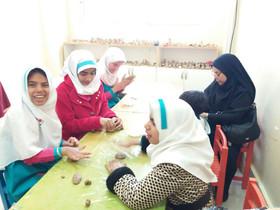 بازدید دانش آموزان  با نیازهای ویژه  مرکز توانبخشی گلهای بهشت  از کانون پرورش فکری قشم