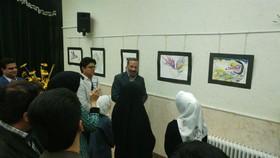 """نمایشگاه تخصصینقاشی""""نگاهنگار"""" درشهرستان تفت گشایش یافت"""