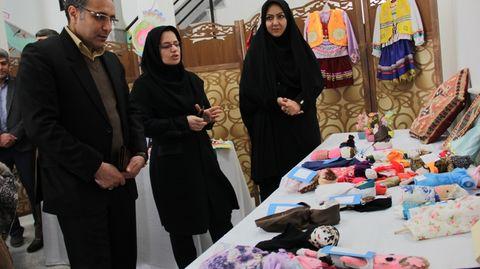 نمایشگاه دست سازه های اعضا افتتاح شد