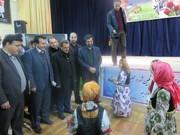 هنرنمایی اعضای کانون مشگین شهر در مراسم استقبال از استاندار اردبیل