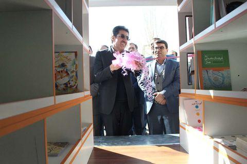 آیین افتتاح ششمین کتابخانه سیار کانون آذربایجان شرقی در ورزقان