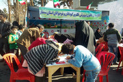 حضور پرشور اعضا و مربیان کانون پرورش فکری سمنان در راهپیمایی 22بهمن