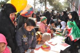 ایستگاههای فرهنگی، هنری کانون خراسان جنوبی در حاشیه مراسم راهپیمایی 22 بهمن در قاب عکس