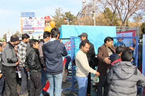 غرفه کانون کرمان در راهپیمایی 22 بهمن