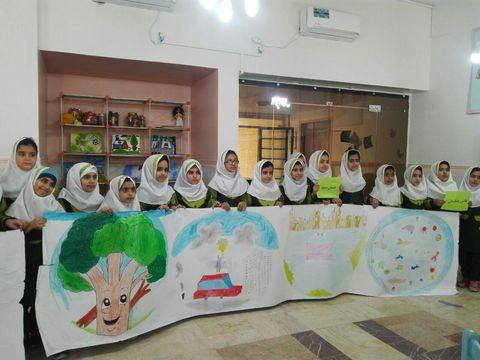 دانش آموزان اندیمشکی در کانون پرورش فکری هوای پاک را نقاشی کردند