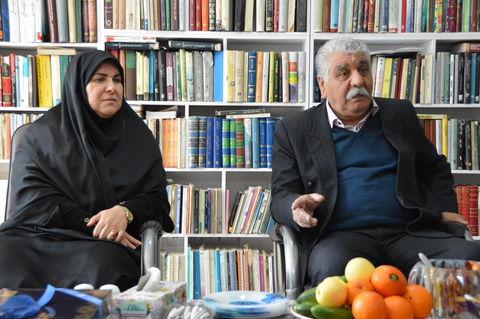 دیدار مدیرکل کانون استان کرمانشاه با اردشیر کشاوز، محقق بنام کرمانشاهی