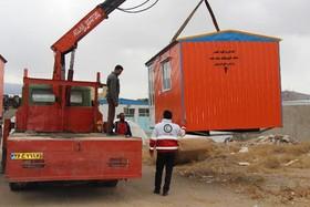 اهدای کانکس به زلزلهزدگان کوهبنان از سوی فروشندگان اسباببازی تهران