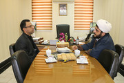 دیدار امام جمعه کالپوش با مدیرکل کانون پرورش فکری سمنان