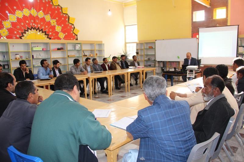 جلسه معاون تربیت بدنی و سلامت سیستان و بلوچستان با همکاران مراکز فرهنگی هنری