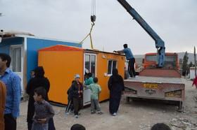 سه کانکس به زلزلهزدگان کرمانشاه اهدا شد
