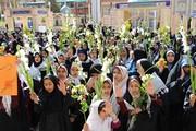 تجمع هزار نفری دانش آموزان در گلزار شهدای کرمان