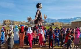 برپایی جشن «تحویل سال نو» در مناطق زلزلهزدهی کرمانشاه