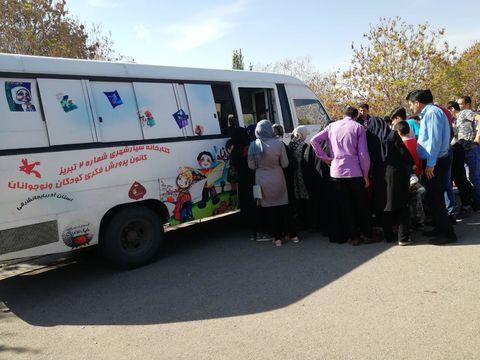 کتابخانههای سیار کانون پرورش فکری کودکان و نوجوانان استان آذربایجان شرقی همراه کودکان و نوجوانان در روز طبیعت 2