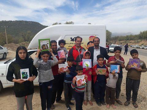 کتابخانه سیار کانون در استان کهگیلویه و بویراحمد