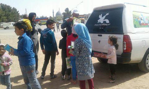 فعالیت کتابخانه های سیار کانون استان اصفهان همزمان با روز طبیعت