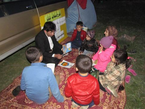 کتابخانه سیار روستایی استان کردستان در طرح عیدانه کانون