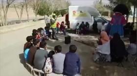 """طرح """" عیدانه کتاب"""" کانون پرورش فکری در مناطق زلزله زده کوهبنان کرمان"""