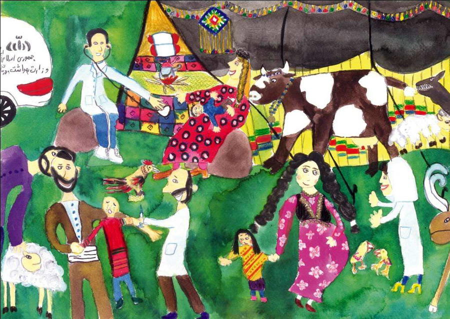 کسب رتبه جهانی مسابقات نقاشی در مصر توسط عضو هنرمند کانون پرورش فکری استان کرمانشاه