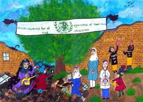 درخشش نوجوان خوزستانی در مسابقه نقاشی سازمان جهانی بهداشت