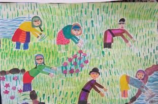 نقاشی عضو کانون کهگیلویه و بویراحمد برگزیده جشنواره کشوری آب و زندگی شد