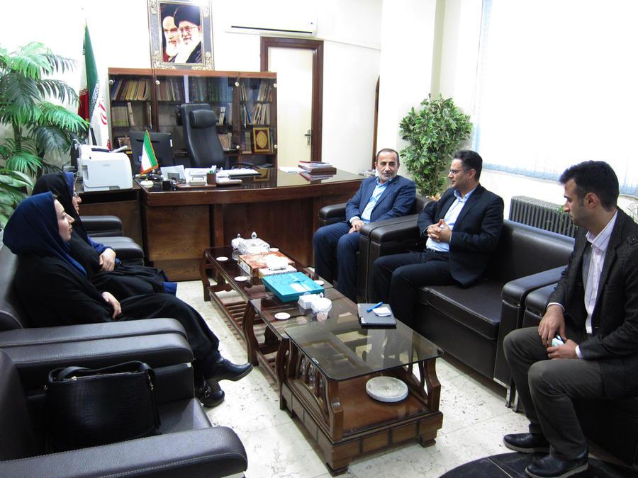 فرماندار آمل در دیدار با مدیر کل کانون پرورش فکری کودکان ونوجوانان استان