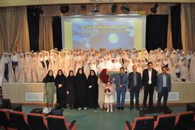 مراسم جشن تکلیف دانشآموزان دختر با عنوان «جشن عبادت فرشتهها» در کانون پرورش فکری زنجان