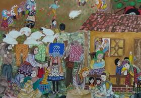 جوایز نقاشی بلاروس به کودکان سرزمین مادری رسید