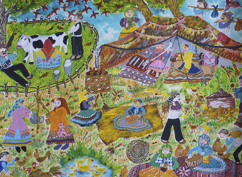 دیپلم افتخار مسابقه بینالمللی نقاشی کشور بلاروس در دست کودک خوزستانی