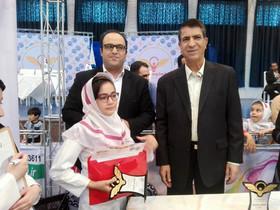 یلدا یوسفی عضو کانون پرورش هرمزگان برگزیده مقام اول در مسابقات لکوکاپ دانشگاه صنعتی  شریف