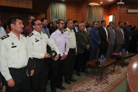 تکریم و معارفه مسئول حراست کانون فارس