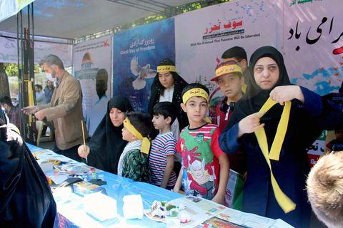 اعلام حمایت کودکان و نوجوانان با همتایان فلسطینی خود در کارگاههای کانون آذربایجان شرقی