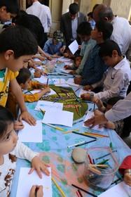 کودکان و نوجوانان شهرکرد با نقاشی های خود از کودکان فلسطین حمایت کردند