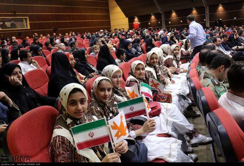 اجرای سرود اعضای مجتمع کانون تبریز در مراسم افتتاحیه برنامههای اوقات فراغت آذربایجان شرقی