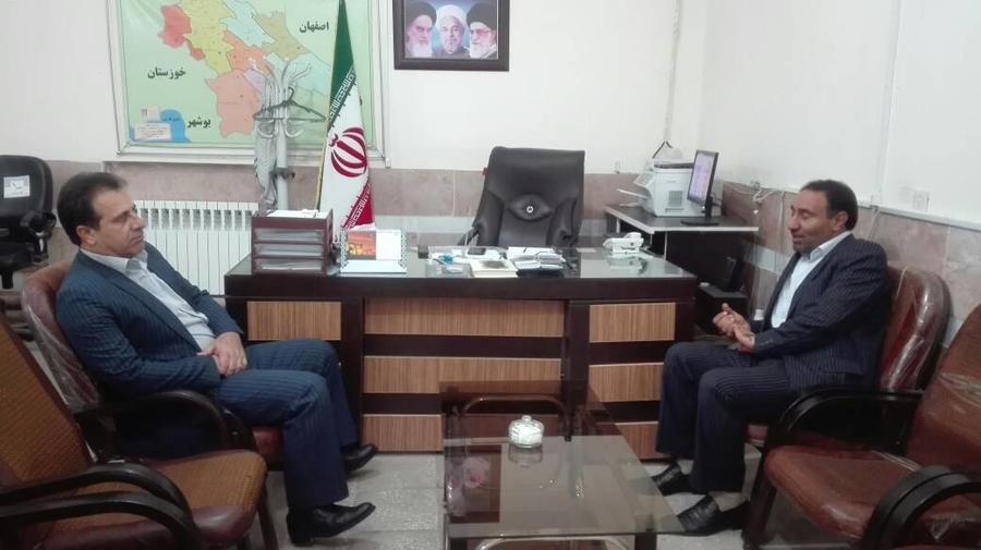 دیدار مدیرکل کانون کهگیلویه و بویراحمد با فرماندار باشت