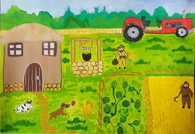 نقاشی های ارسالی  برای بیست و ششمین  مسابقه بین المللی نقاشی کودکان هیکاری ژاپن