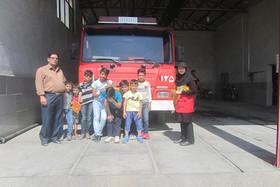 بازدید اعضای کانون شاهرود از ایستگاه آتشنشانی
