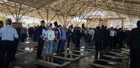 حضور اعضای کانون آذربایجان شرقی در مراسم «غبارروبی مزار شهدا»