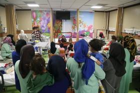 اجرای برنامه برای کودکان بستری در بیمارستان در هفتهی ملی کودک
