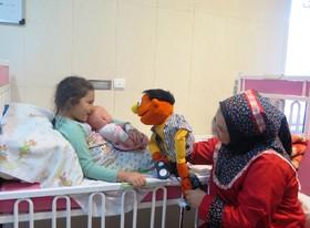گزارش تصویری اجرای برنامه کانون قزوین برای کودکان بیمار