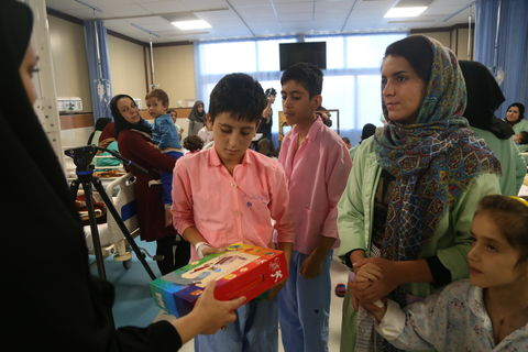 اجرای برنامه برای کودکان بستری در بیمارستان