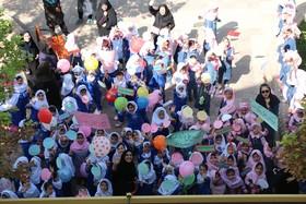 راهپیمایی نمادین کودکان و حضور در فعالیتهای مرکز شماره 3 کانون در شیراز