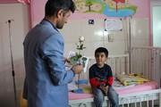 حضور مربیان کانون کهگیلویه و بویراحمد میان کودکان بیمار